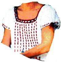 Peasant Blouse Crochet Pattern | eBooks | Arts and Crafts