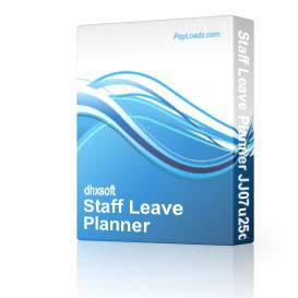Staff Leave Planner JJ07u25d | Software | Add-Ons and Plug-ins