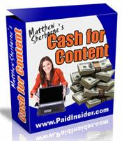 cash for content personal use