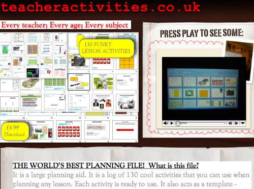First Additional product image for - A lifetime's log of lesson activities. 130 activities including flash powerpoints