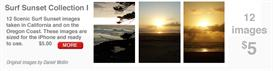 iPhone Scenics Surf Sunset Collection I | Other Files | Wallpaper