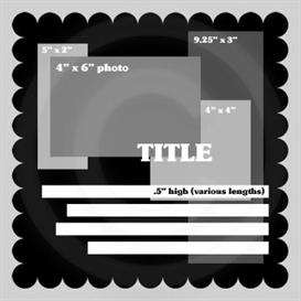12x12 Digital Scrapbook Template Scalloped Theme | Other Files | Arts and Crafts