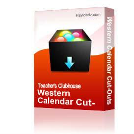 Western Calendar Cut-Outs | Other Files | Documents and Forms