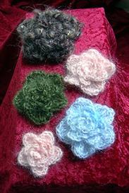 Crocheted 'Five Petal Posy' Broach PATTERN | eBooks | Arts and Crafts