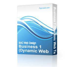 Business 1 (DWT) | Software | Design Templates