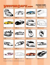 stock car vector clip art #1