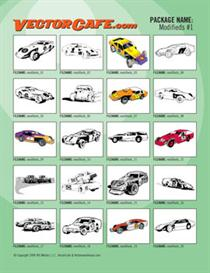 Modifieds Vector Clip Art #1 | Other Files | Clip Art