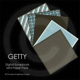 GETTY Digital Scrapbook Mini-Paper Pack | Other Files | Arts and Crafts