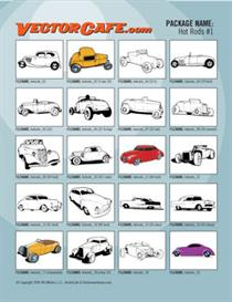 Hot Rods Vector Clip Art #1 | Other Files | Clip Art