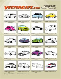 Compact Custom Car Vector Clip Art #1 | Other Files | Clip Art