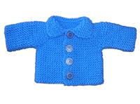 #01 chunky baby cardigan pdf pattern from sweaterbabe.com