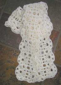 #32 Lush Crocheted Lace Scarf PDF Pattern from SweaterBabe.com | Other Files | Arts and Crafts