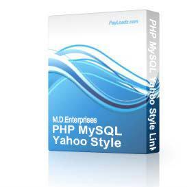 4PhpMySQLYahooStyleLinkDirectorySearchEngine | Software | Internet
