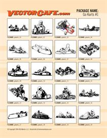 go karts vector clip art #1