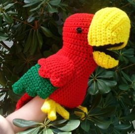 Chaco parrot puppet | Other Files | Arts and Crafts