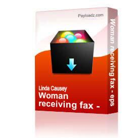 Woman receiving fax - eps | Other Files | Clip Art