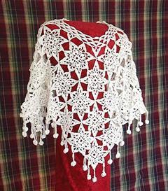 'Snowflake' Poncho Crochet PATTERN | eBooks | Arts and Crafts