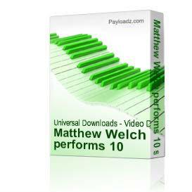 Matthew Welch performs 10 solo (bagpipe) compositions by Anthony Braxton | Music | Other
