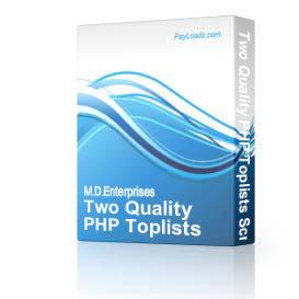 11 Two Quality PHP Toplists Scripts | Audio Books | Internet