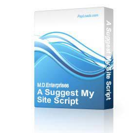 20AsuggestmysiteScript | Software | Internet