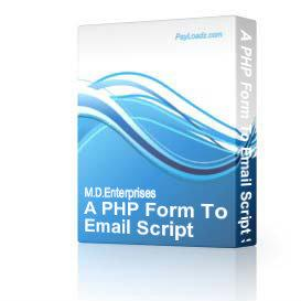 23 A PHP Form To Email Script Secure | Software | Internet