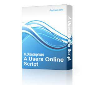28 a users online script | Software | Internet