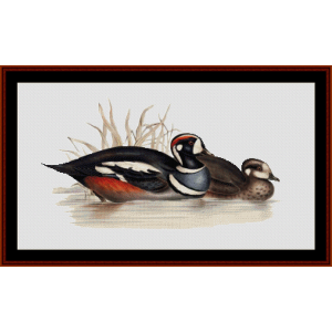 Harlequin Duck - Wildlife cross stitch pattern by Cross Stitch Collectibles | Crafting | Cross-Stitch | Wall Hangings