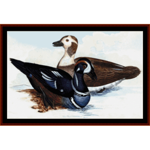 Harlequin Ducks - Wildlife cross stitch pattern by Cross Stitch Collectibles | Crafting | Cross-Stitch | Wall Hangings