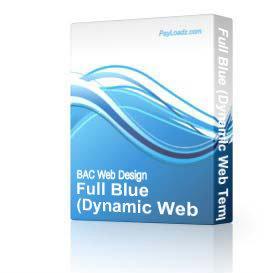 Full Blue (DWT) | Software | Design Templates