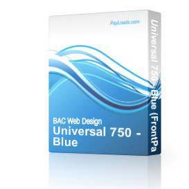 Universal 750 - Blue | Software | Design Templates
