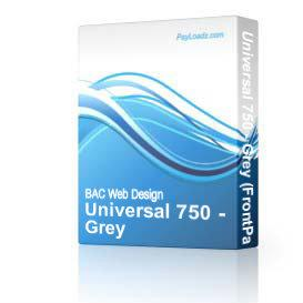 Universal 750 - Grey | Software | Design Templates