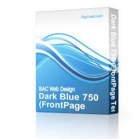 Dark Blue 750   Software   Design Templates