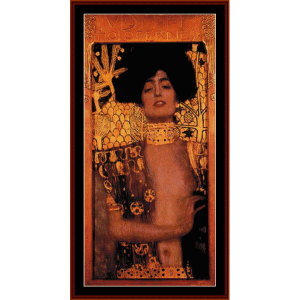 Judith - Klimt cross stitch pattern by Cross Stitch Collectibles | Crafting | Cross-Stitch | Wall Hangings