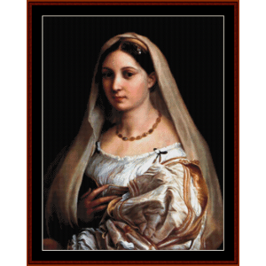 La Donna Velata - Raphael cross stitch pattern by Cross Stitch Collectibles | Crafting | Cross-Stitch | Wall Hangings