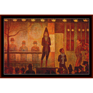 La Parade - Seurat cross stitch pattern by Cross Stitch Collectibles | Crafting | Cross-Stitch | Wall Hangings