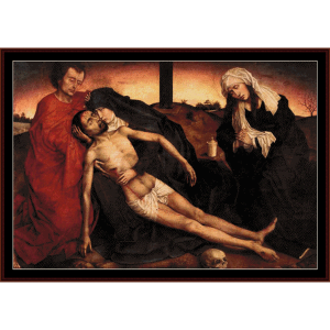 Lamentation - Van der Weyden cross stitch pattern by Cross Stitch Collectibles | Crafting | Cross-Stitch | Wall Hangings