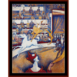 Le Cirque - Seurat cross stitch pattern by Cross Stitch Collectibles | Crafting | Cross-Stitch | Wall Hangings