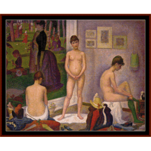 Les Poseuses - Seurat cross stitch pattern by Cross Stitch Collectibles | Crafting | Cross-Stitch | Wall Hangings