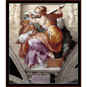 libyan sibyl - michelangelo cross stitch pattern by cross stitch collectibles