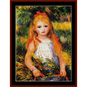Little Girl Gleaning - Renoir cross stitch pattern by Cross Stitch Collectibles | Crafting | Cross-Stitch | Wall Hangings