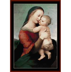 Madonna Tempi - Raphael cross stitch pattern by Cross Stitch Collectibles | Crafting | Cross-Stitch | Wall Hangings