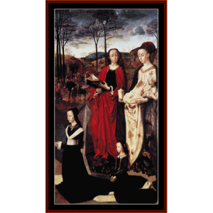 mary magdalene - van der goes cross stitch pattern by cross stitch collectibles