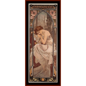 Nights Rest - Mucha cross stitch pattern by Cross Stitch Collectibles | Crafting | Cross-Stitch | Wall Hangings