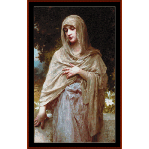 Modesty - Bouguereau cross stitch pattern by Cross Stitch Collectibles | Crafting | Cross-Stitch | Wall Hangings