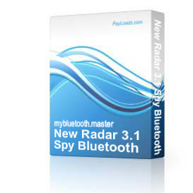New Radar 3.1 Spy Bluetooth Software for Mobile Phone