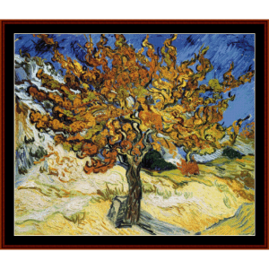 Mulberry Tree - Van Gogh cross stitch pattern by Cross Stitch Collectibles | Crafting | Cross-Stitch | Wall Hangings