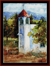 new mexico church cross stitch pattern by cross stitch collectibles