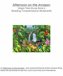 MTH06 Afternoon on the Amazon Reading Comprehension Worksheets | eBooks | Education