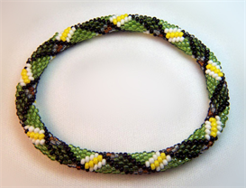 irish plaid bead crochet pattern