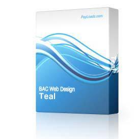 Teal & Gold - 785 | Software | Design Templates